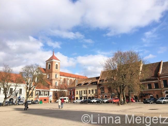 リトアニア第二の都市カウナスの中心地