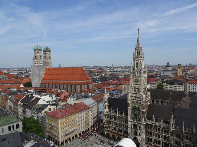 ミュンヘン旧市庁舎があるマリエン広場