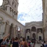 スプリット、ディオクレティアヌス宮殿の広場