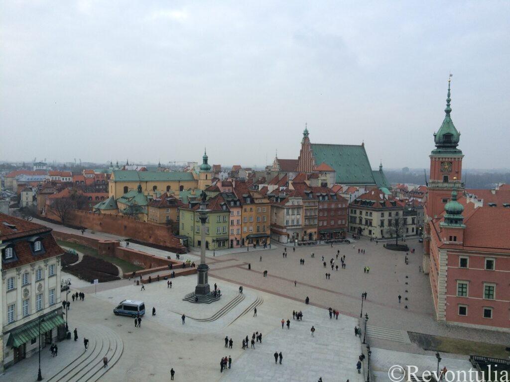 ワルシャワ旧市街の中心