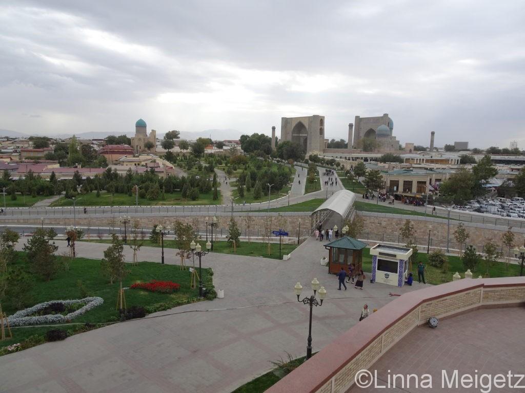ハズラット・ヒジルモスクからのサマルカンドの風景