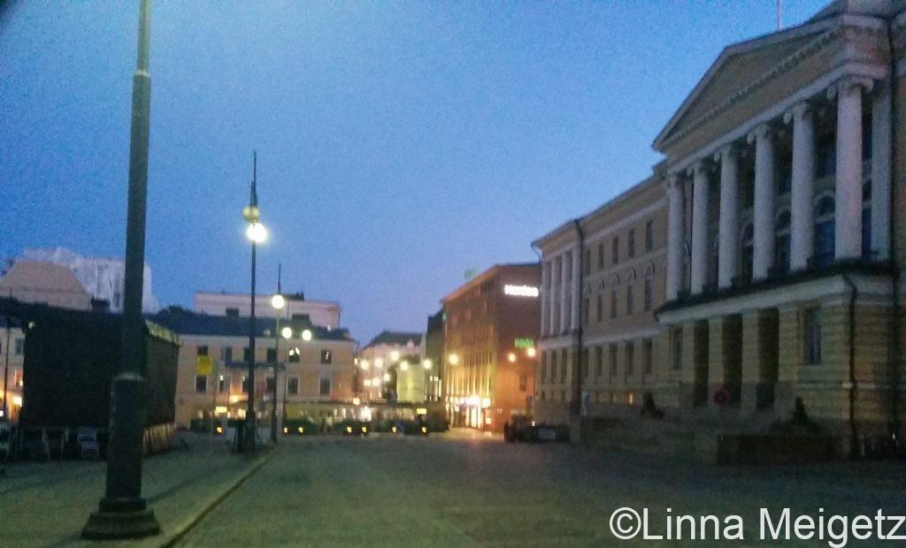 元老院広場に面したヘルシンキ大学本館