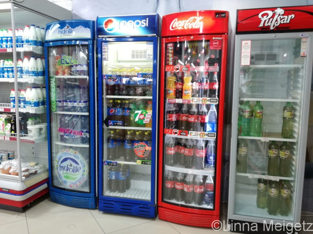 ウズベキスタンのスーパーの冷蔵庫