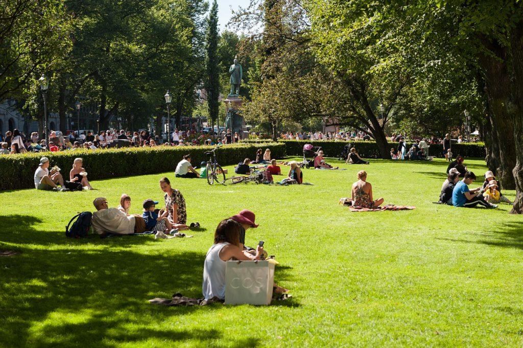 晴れた日のエスプラナディ公園