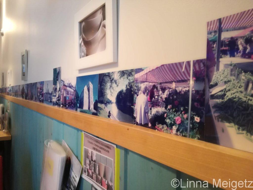 poro珈琲の店内に並べられた写真