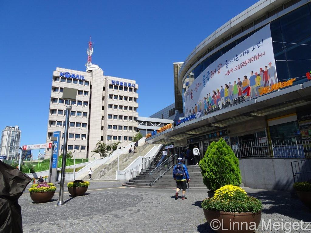 ソウル駅の外