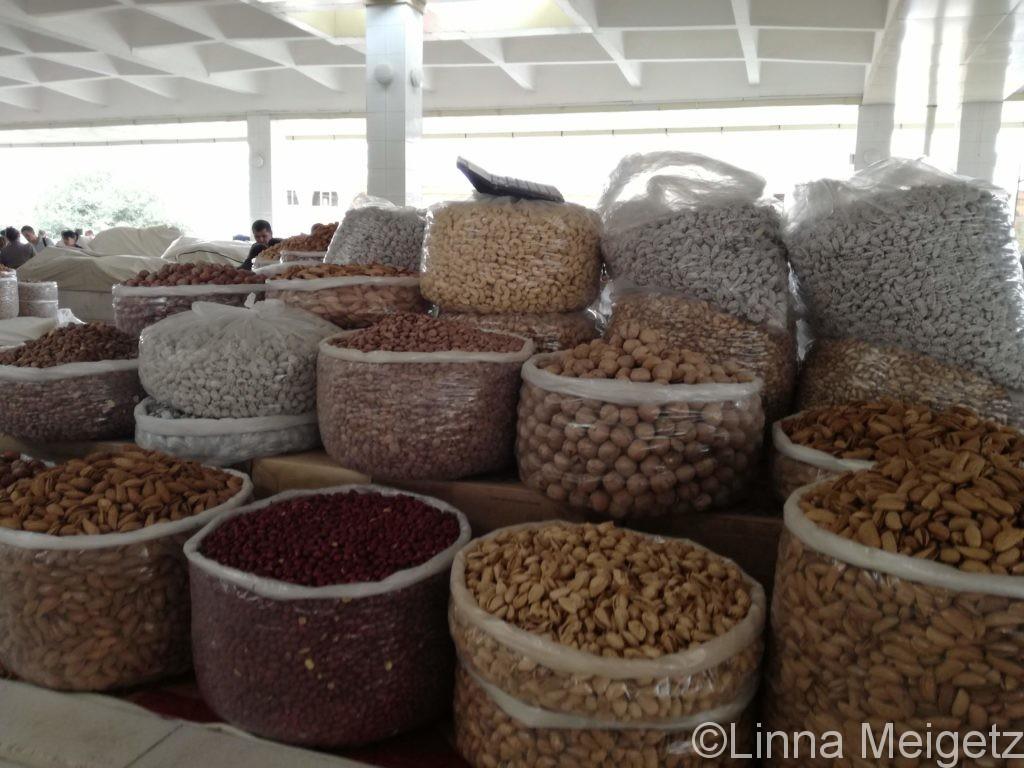 シヨブ・バザールのナッツ売り場の写真