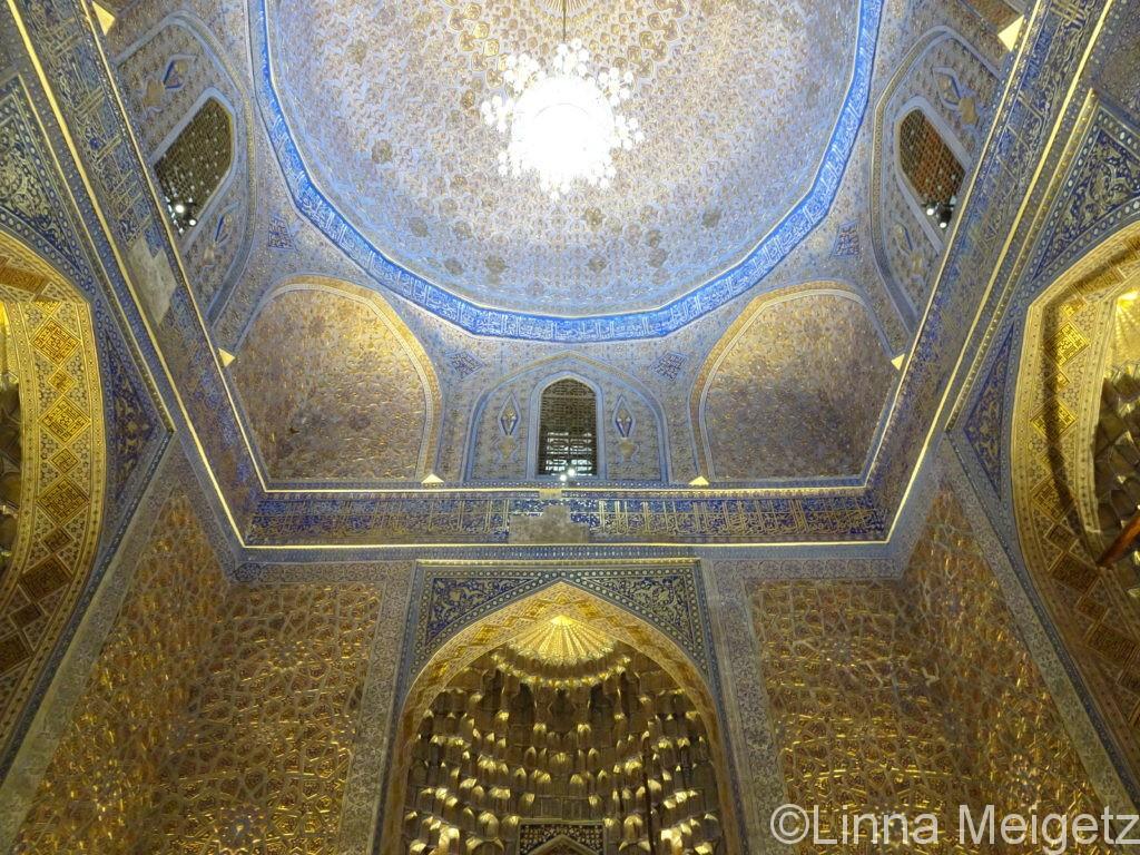 グリアミール廟のクーポラの内部