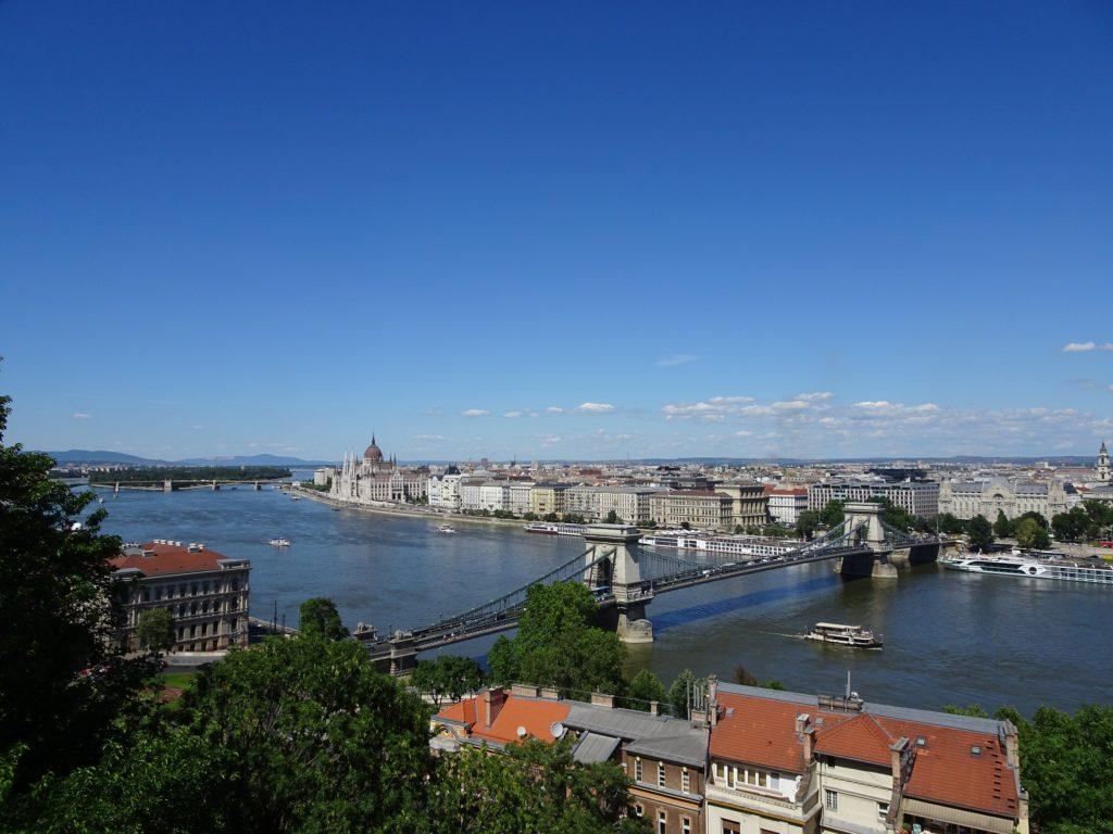 王宮の丘から眺めたブダペストの町