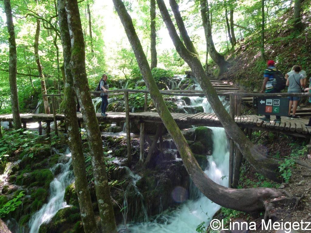 滝の上にかかる橋
