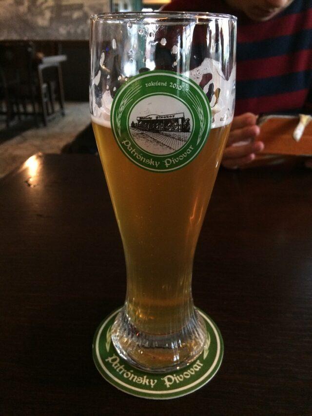 ブラチスラヴァのパブPatrónsky pivovarで飲んだクラフトビール
