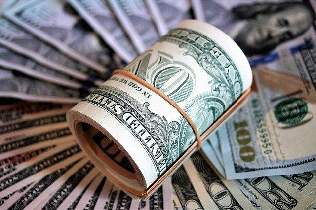 アメリカドルのお札の写真