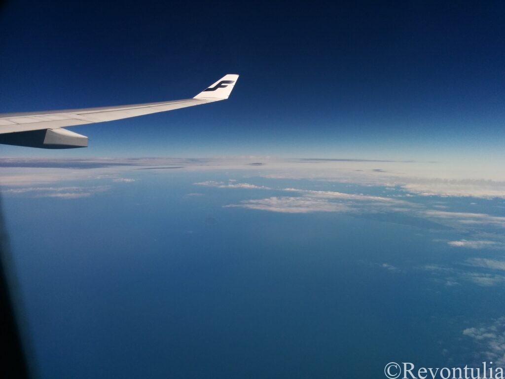 フィンランド航空の機内から見た風景