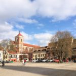 カウナスの旧市庁舎広場