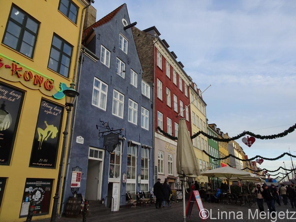 デンマーク・コペンハーゲンのニューハウン地区の写真