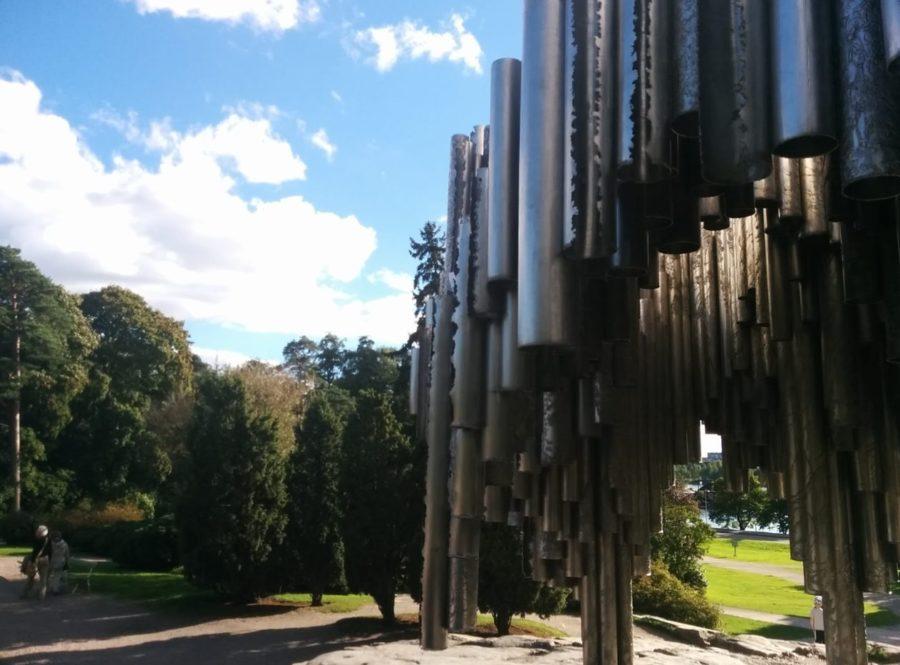 シベリウス公園の記念碑