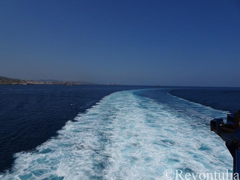 フェリーから見たエーゲ海