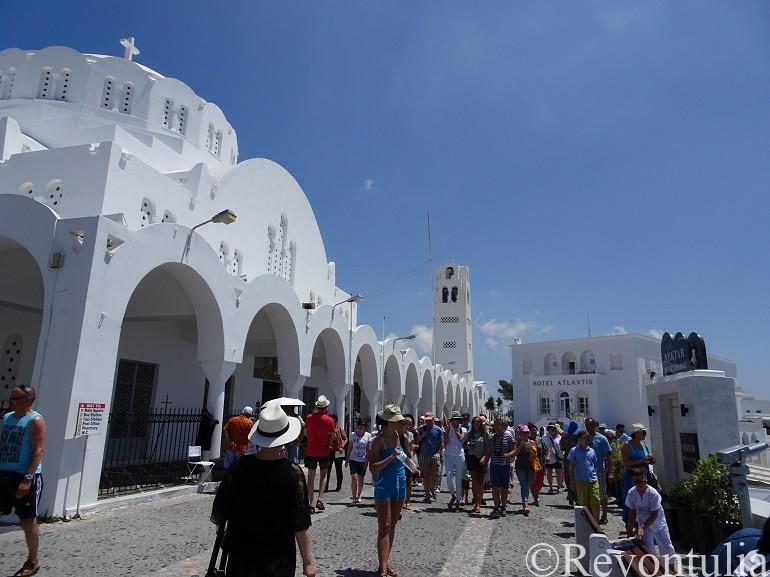サントリーニ島の大聖堂