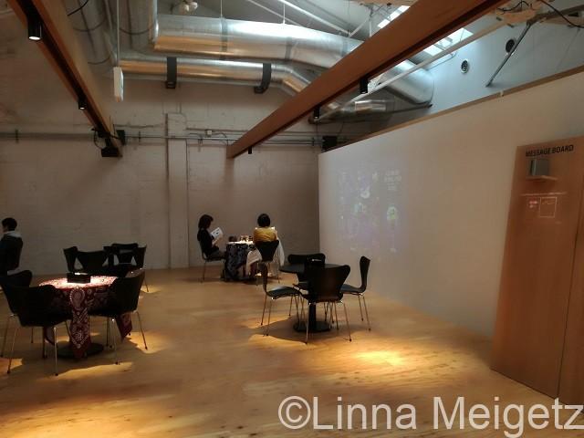 「ジョージアワイン展」のカフェスペース