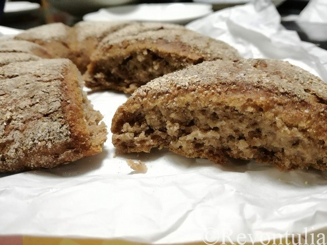 鎌倉のライ麦ハウスベーカリーで購入したライ麦パンの中身
