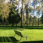 シベリウス公園のベンチ