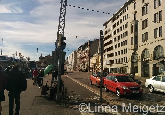 ヘルシンキ中心街のとある通り