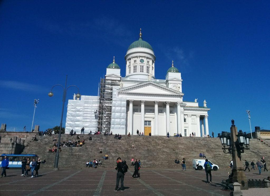 改装工事中のヘルシンキ大聖堂