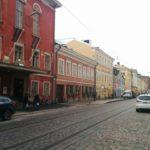 ヘルシンキ大聖堂近くの通りの写真