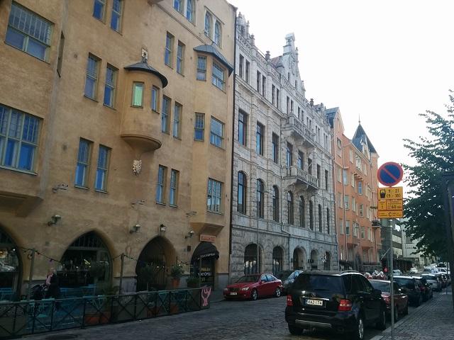 ヘルシンキ中心街南部の街並み