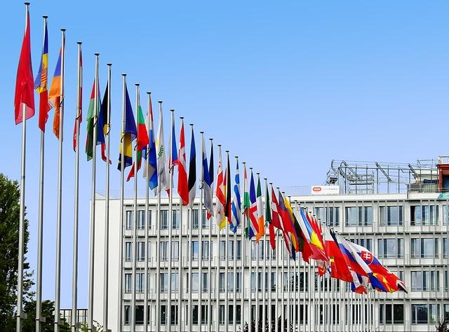 ヨーロッパの国旗の写真