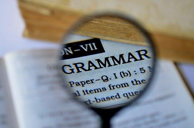 辞書の「grammar」のページ