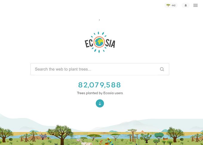 Ecosiaのスクリーンショット