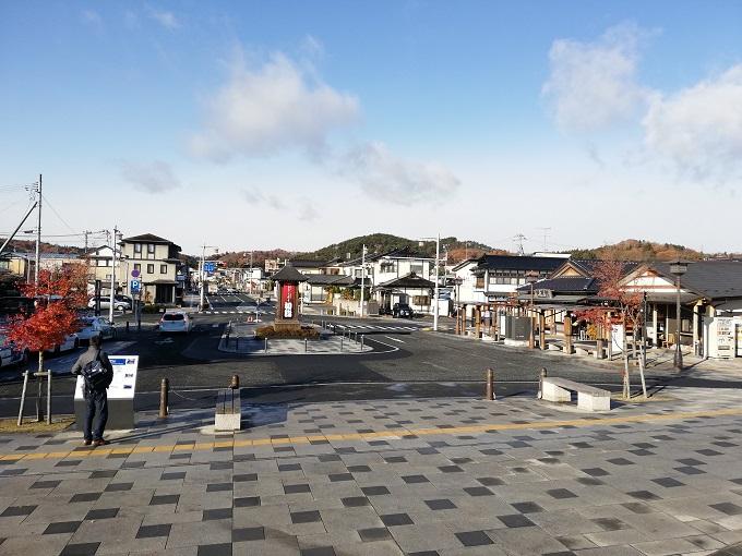 平泉駅前のようす
