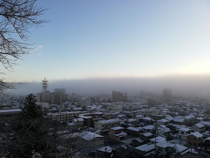 釣山公園から見た一関市街の眺望