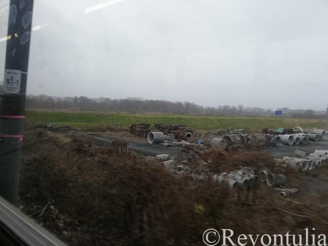 車窓からの岩手の景色