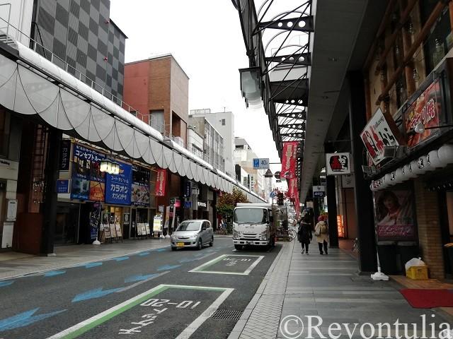 盛岡駅前の商店街