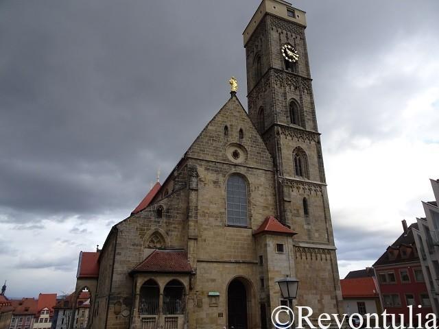 バンベルクの教会Obere Pfarreの外観