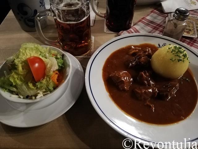 バンベルクのBrauerei Spezialでの料理