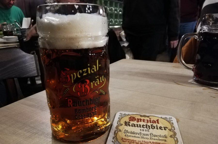 バンベルクのラオホビールが飲める店・Brauerei Spezialにて