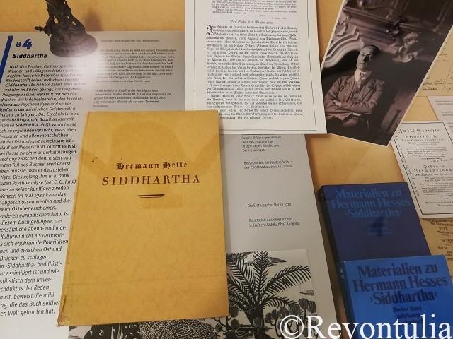 ヘルマン・ヘッセ博物館に展示されている『シッダールタ』の冊子