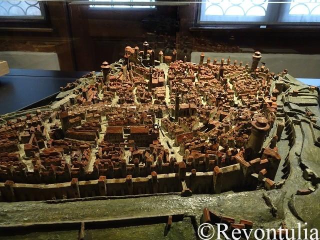 フェンボハウス市立博物館にあるニュルンベルクの町の模型