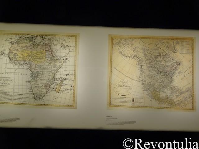 フェンボハウス市立博物館にある地図の写真