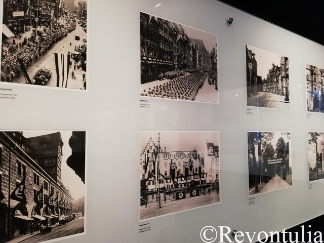 フェンボハウス市立博物館にある戦時中のニュルンベルクの街の写真
