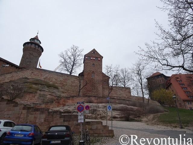 ニュルンベルクのカイザーブルク城の外観
