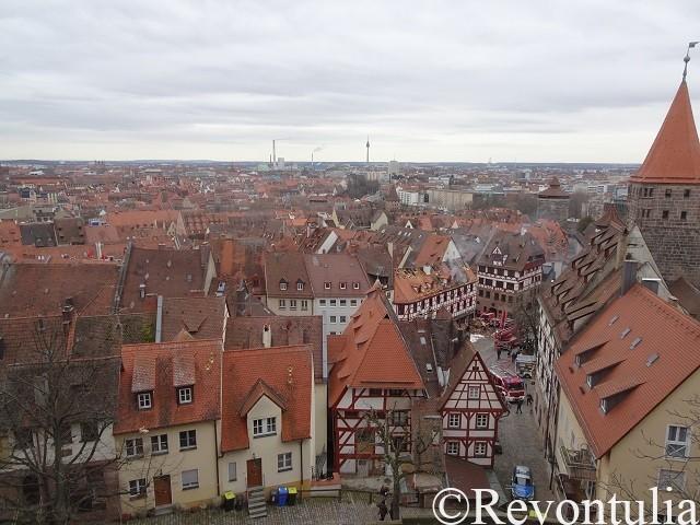 カイザーブルク城からのニュルンベルクの眺め
