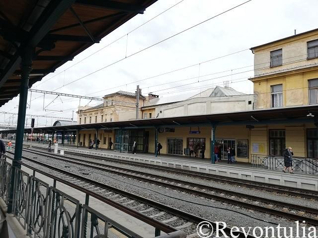 プルゼニ駅のホーム