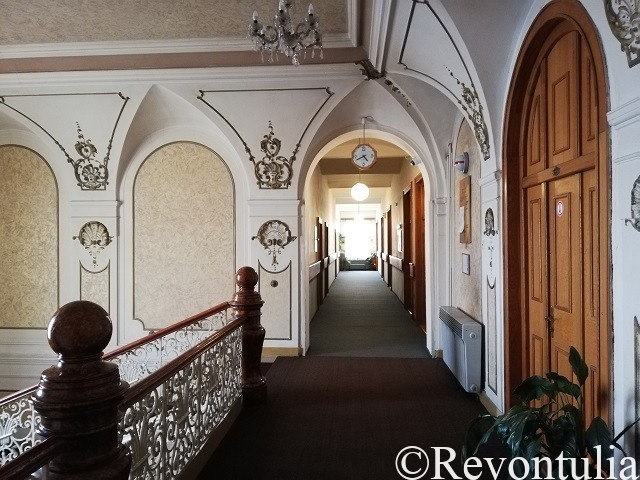 Hotel Slovan Plzeňの廊下の写真