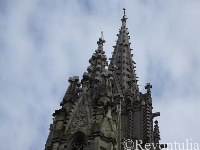 ラーケン教会の尖塔の先端