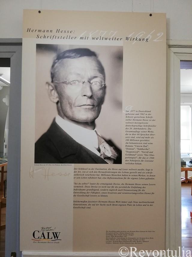 ヘッセの写真と生い立ち。ヘッセ博物館にて