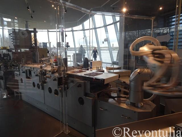 ケルンのチョコレート博物館の生産ライン